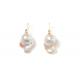 Pendientes b pearl turquesas