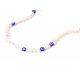 Collar B Pearls blue & lucky eyes