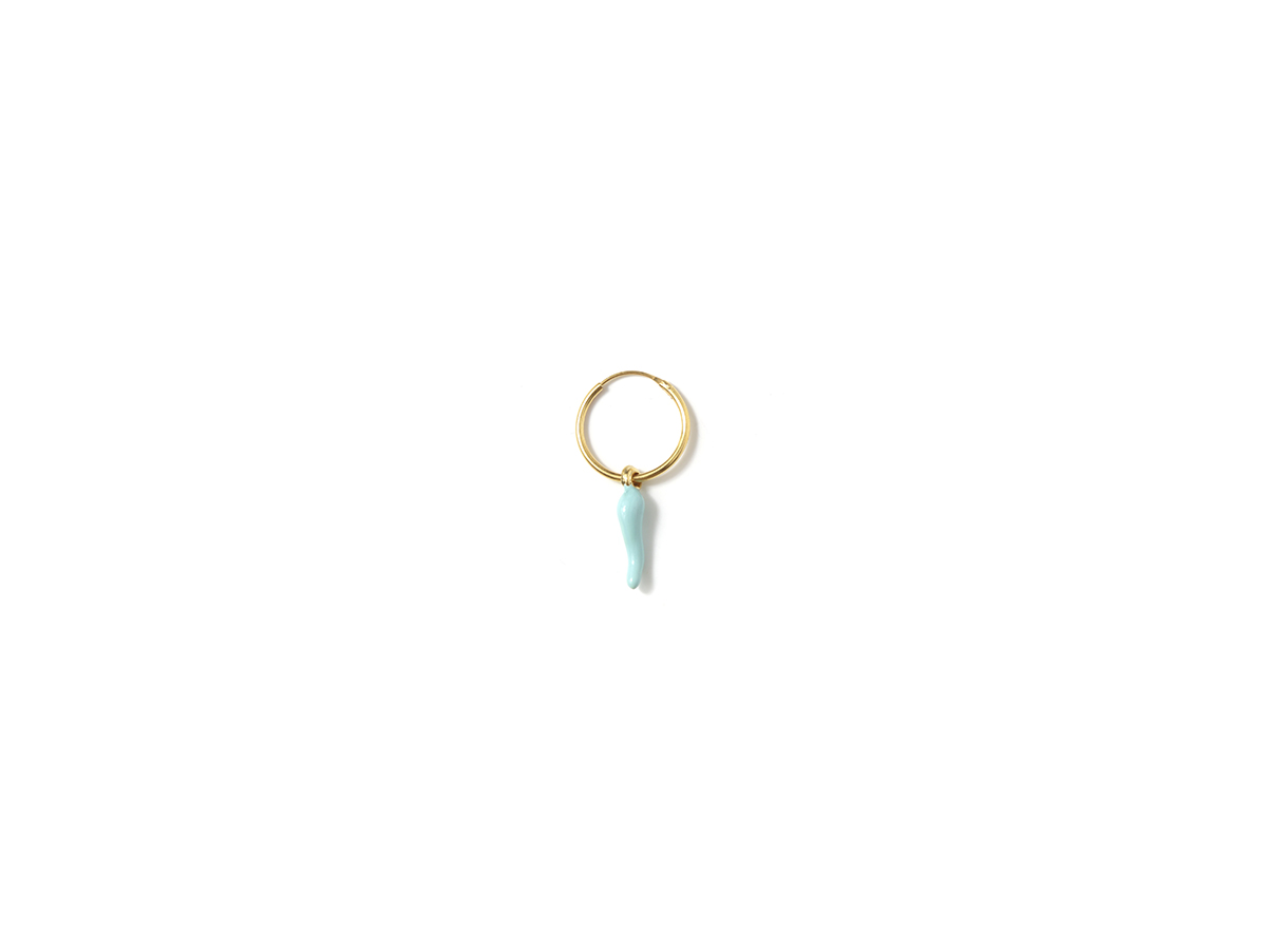 Pendiente B Cornicello light blue