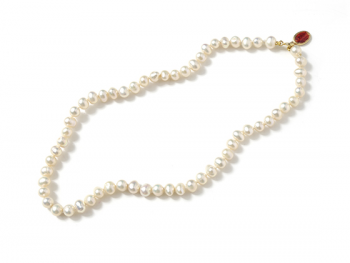 Collar b pearls virgin red