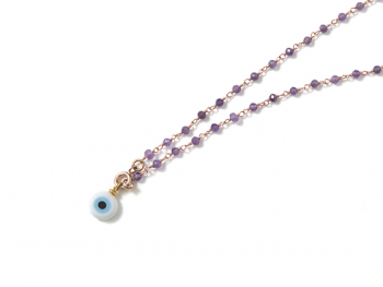 Collar B Rosary & Eye purple