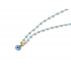 Collar B Rosary & Eye blue