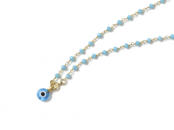 Collar B Rosary & Eye blue