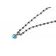 Collar B Rosary & Eye carbon blue