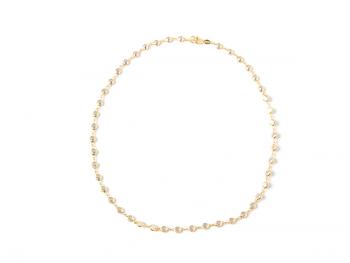 Collar dorado perlas blancas