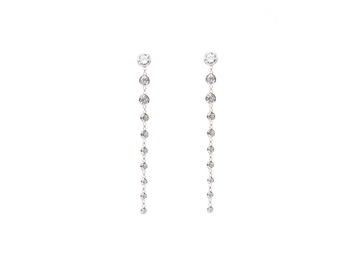 Pendientes plata perlas blancas