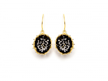 Pendientes B Bubble Gold & Black Spinel