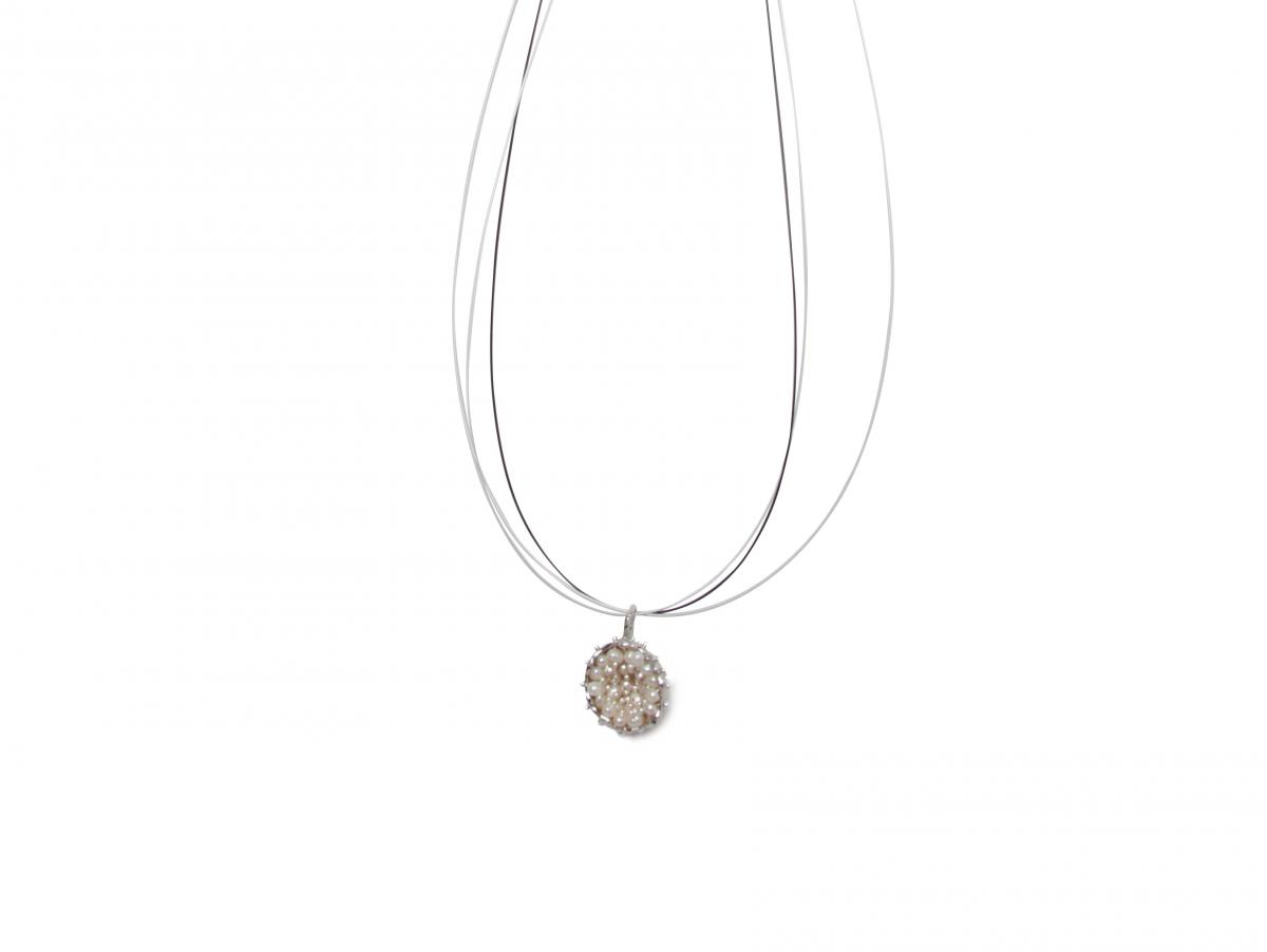 Gargantilla BBubble Silver & Pearls