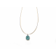 Gargantilla BBubble Rhodium & Amazonite