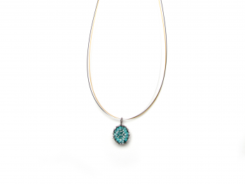 Gargantilla B Bubble Rhodium & Amazonite